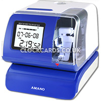Amano PIX 200 Time Stamp Machine And Date