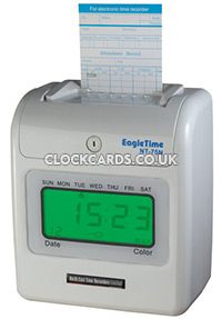 clock in and out machine